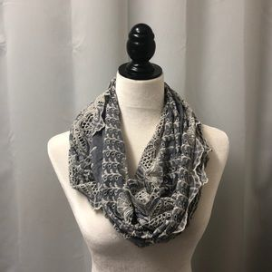Anthropologie Floreat Infinity Scarf Eyelet Lace